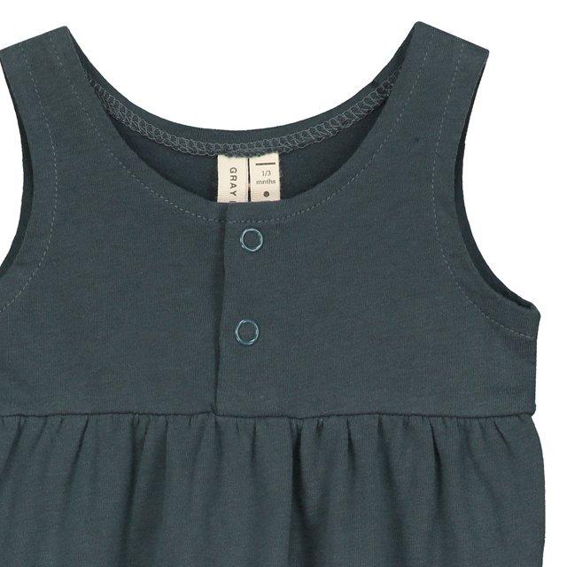 【SALE 30%OFF】Baby Summer Onesie Blue Grey img1
