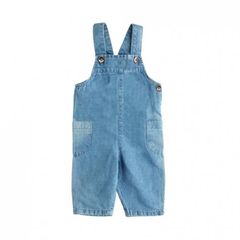 【SUMMER SALE 50%OFF】S4718. BIB OVERALLS CHAMBRAY