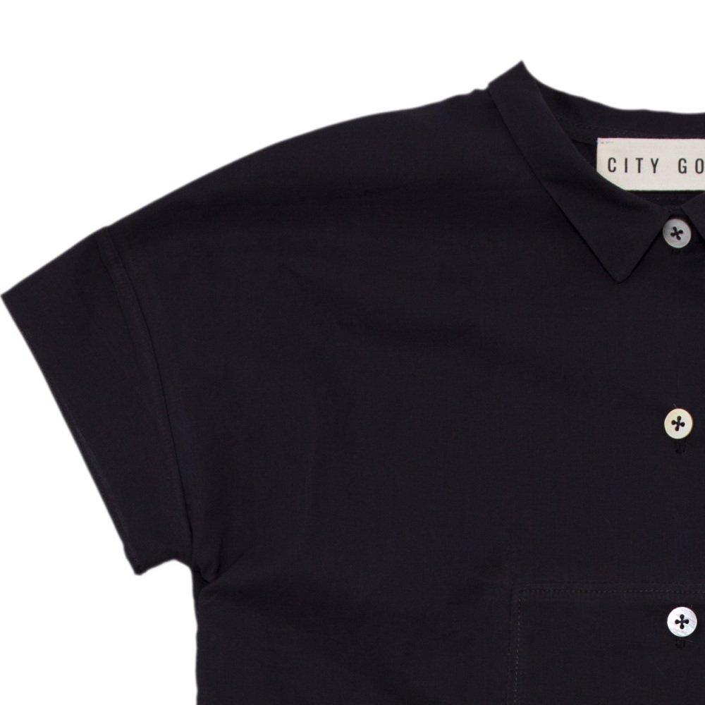 【SALE 30%OFF】Fig Leaf Long Shirt Charcoal img1