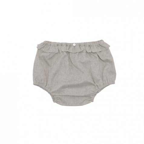 【WINTER SALE 40%OFF】Taya Ruffled Bloomer Natural Organic Linen
