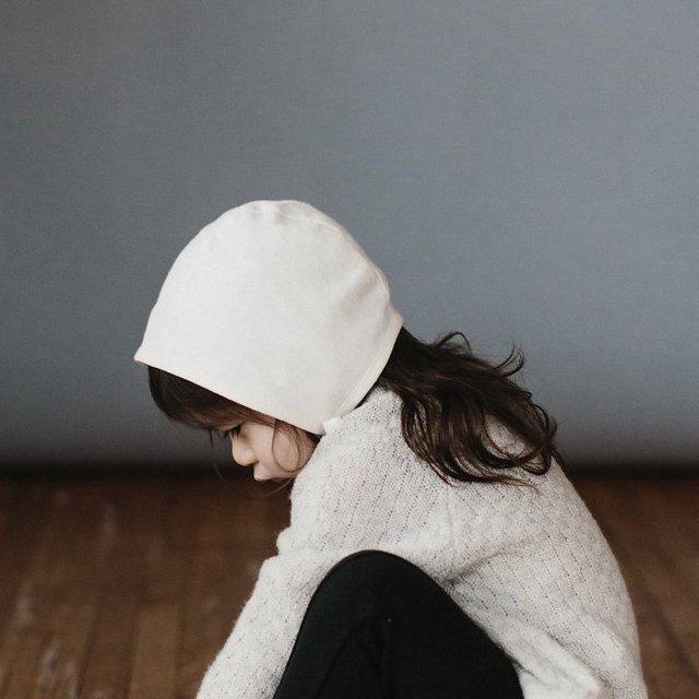 【再入荷】Basics bonnet Ivory Linen img