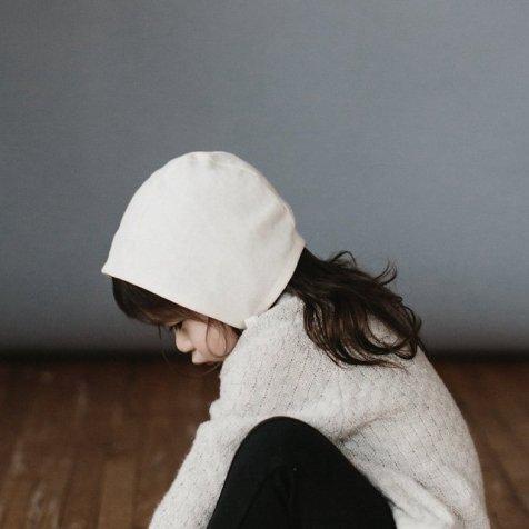 【再入荷】Basics bonnet Ivory Linen