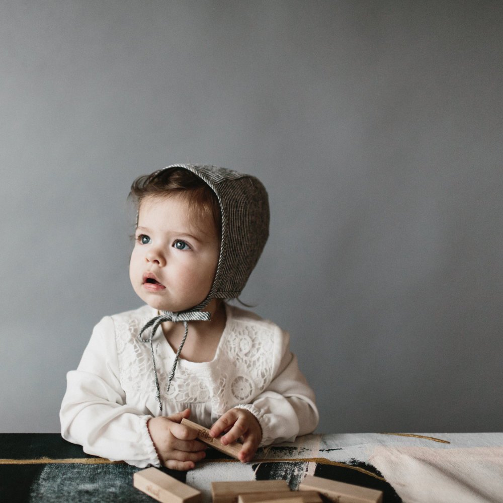 Basics bonnet Natural Stripe img7
