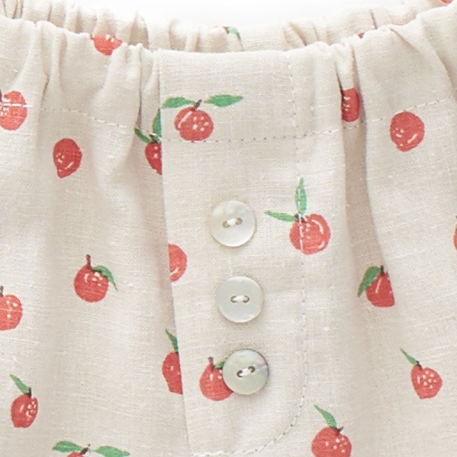 【SALE 30%OFF】Linen Bloomers Beige/Peaches img2