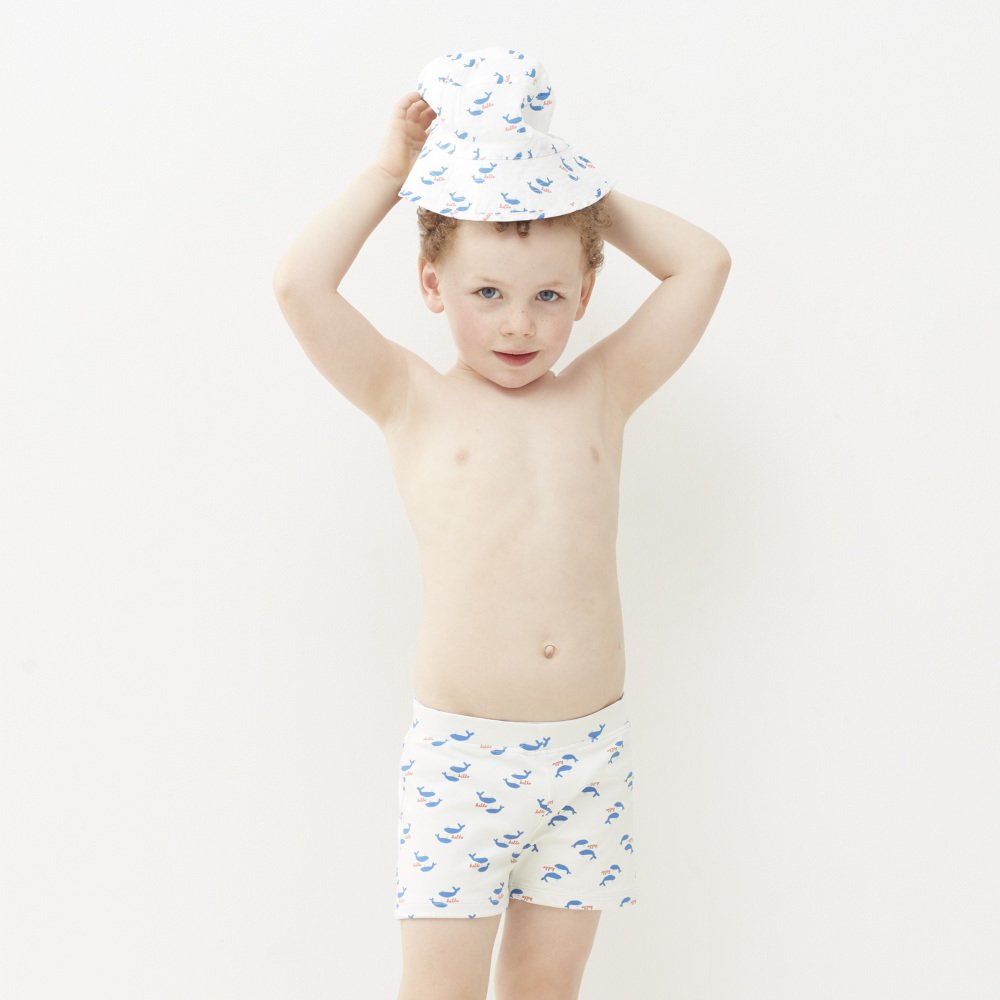 【SALE 30%OFF】Swim Trunks White/Whales img4
