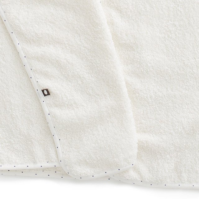 【SALE 30%OFF】Toddler Hooded Towel White/Indigo Dots img2