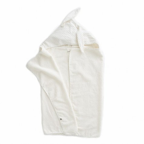 Toddler Hooded Towel White/Indigo Dots