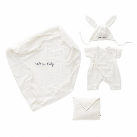 Baby Swaddle Set White