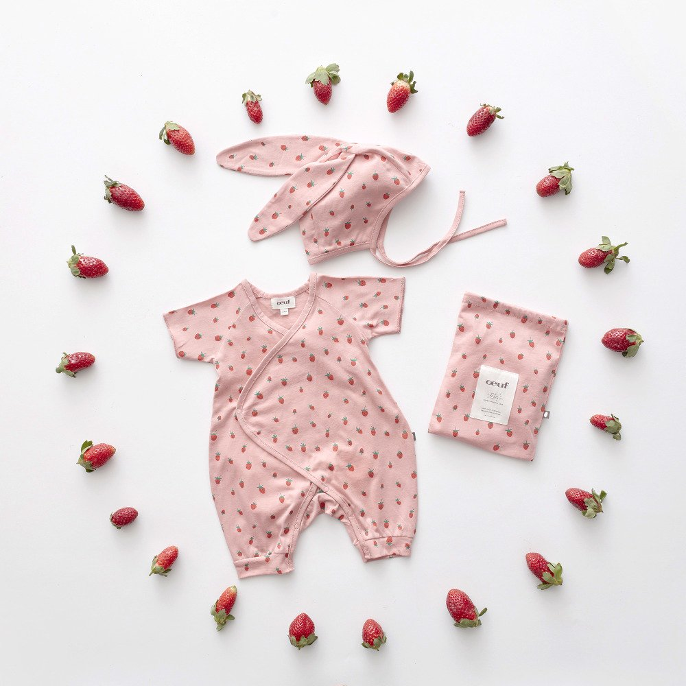 Baby Bunny Set Rose/Strawberries img6