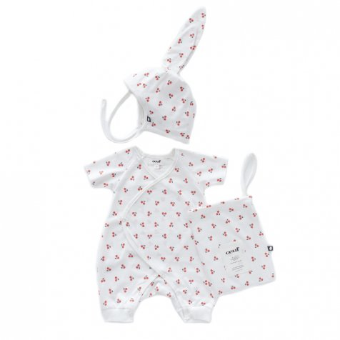 【SALE 30%OFF】Baby Bunny Set White/Cherries