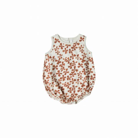 flower bubble onesie ivory