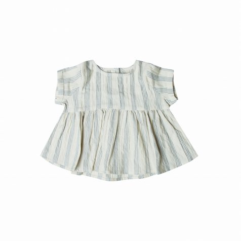 stripe jane blouse ivory/stormy blue