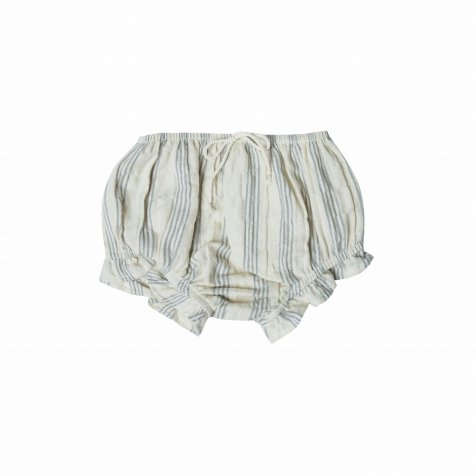【SALE 30%OFF】stripe flutter bloomer ivory/stormy blue