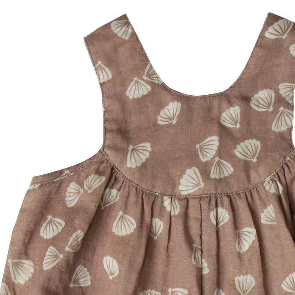 【SALE 30%OFF】seashell june romper cocoa img1