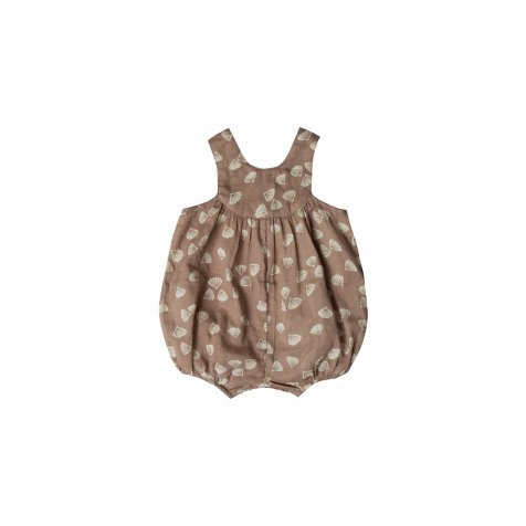 seashell june romper cocoa