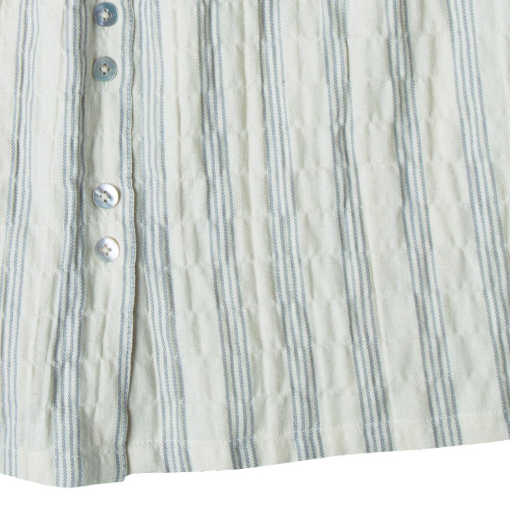 【WINTER SALE 40%OFF】stripe button front midi skirt ivory/stormy blue img2