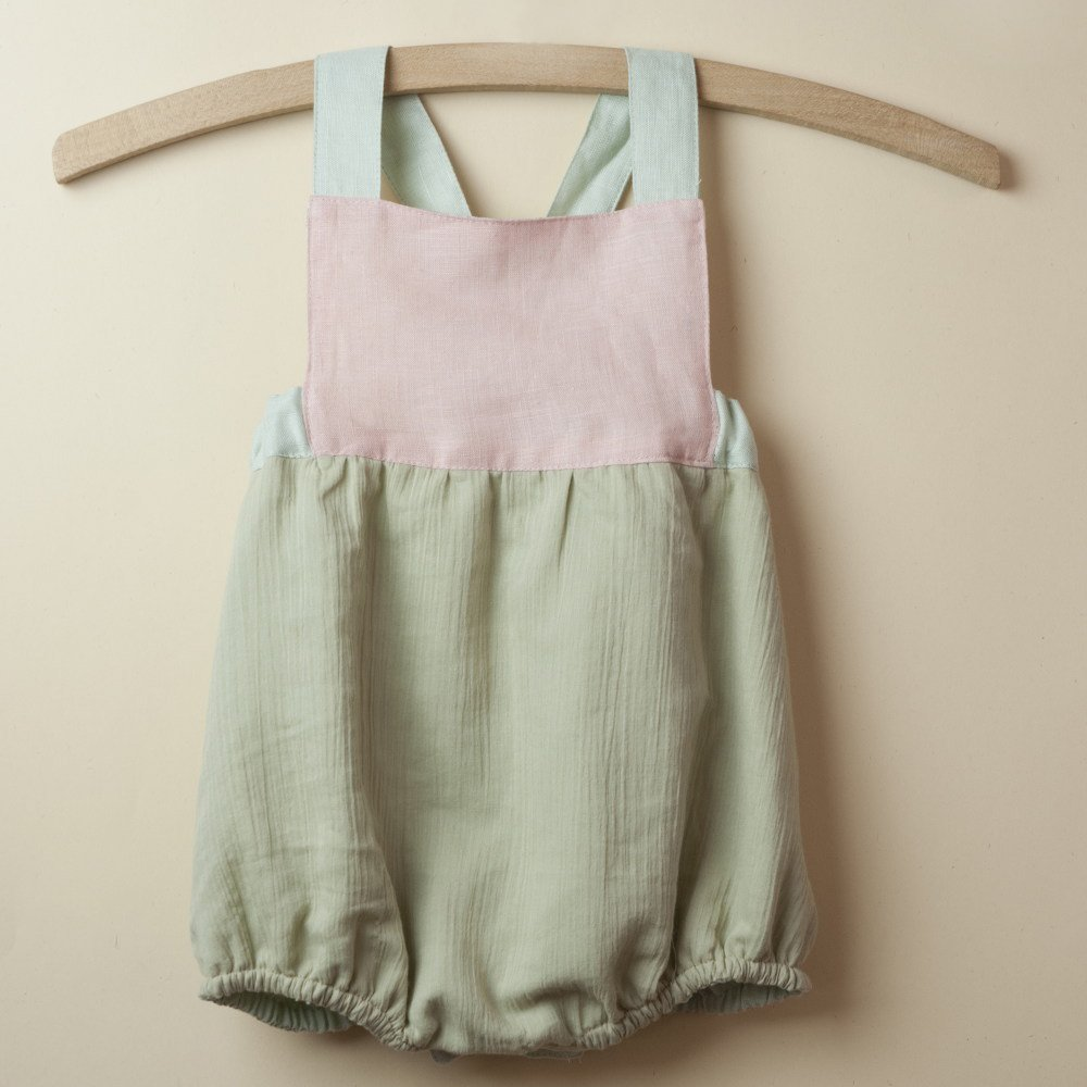【SALE 30%OFF】Floral reversible dungarees img1