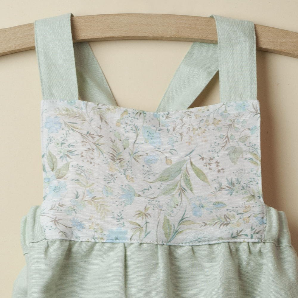 【SALE 30%OFF】Floral reversible dungarees img3