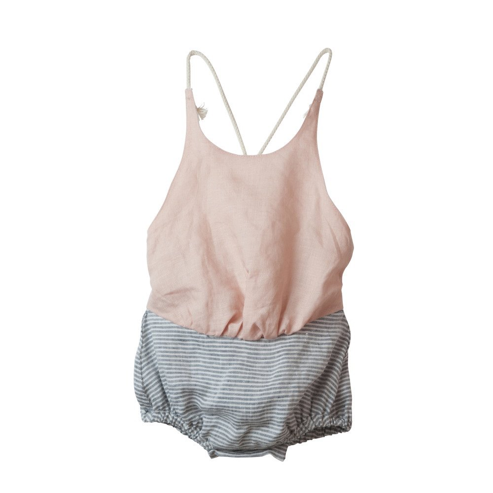 【50%OFF】Reversible white bather-style romper suit img