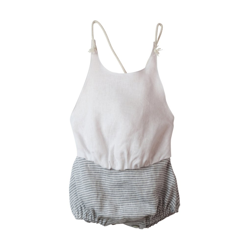 【50%OFF】Reversible white bather-style romper suit img1
