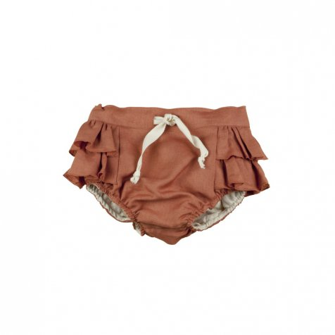 Terracotta culotte with frills