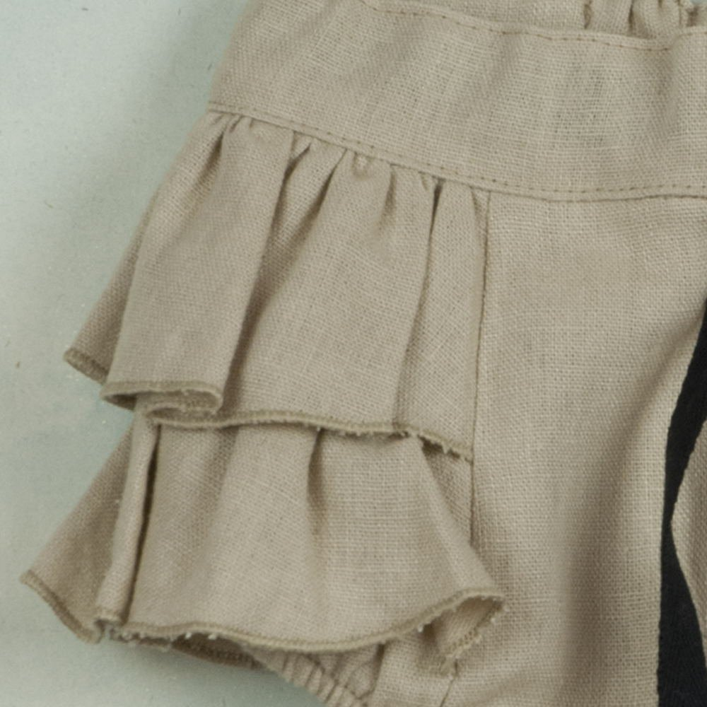 【SALE 30%OFF】Beige culotte with frills img1