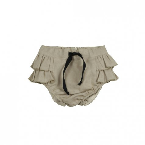 Beige culotte with frills