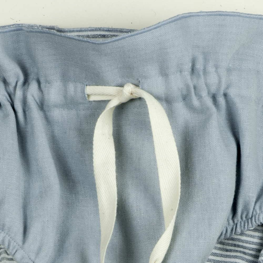 Reversible culotte blue and sailor stripes img3