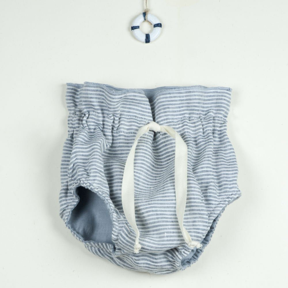 Reversible culotte blue and sailor stripes img4