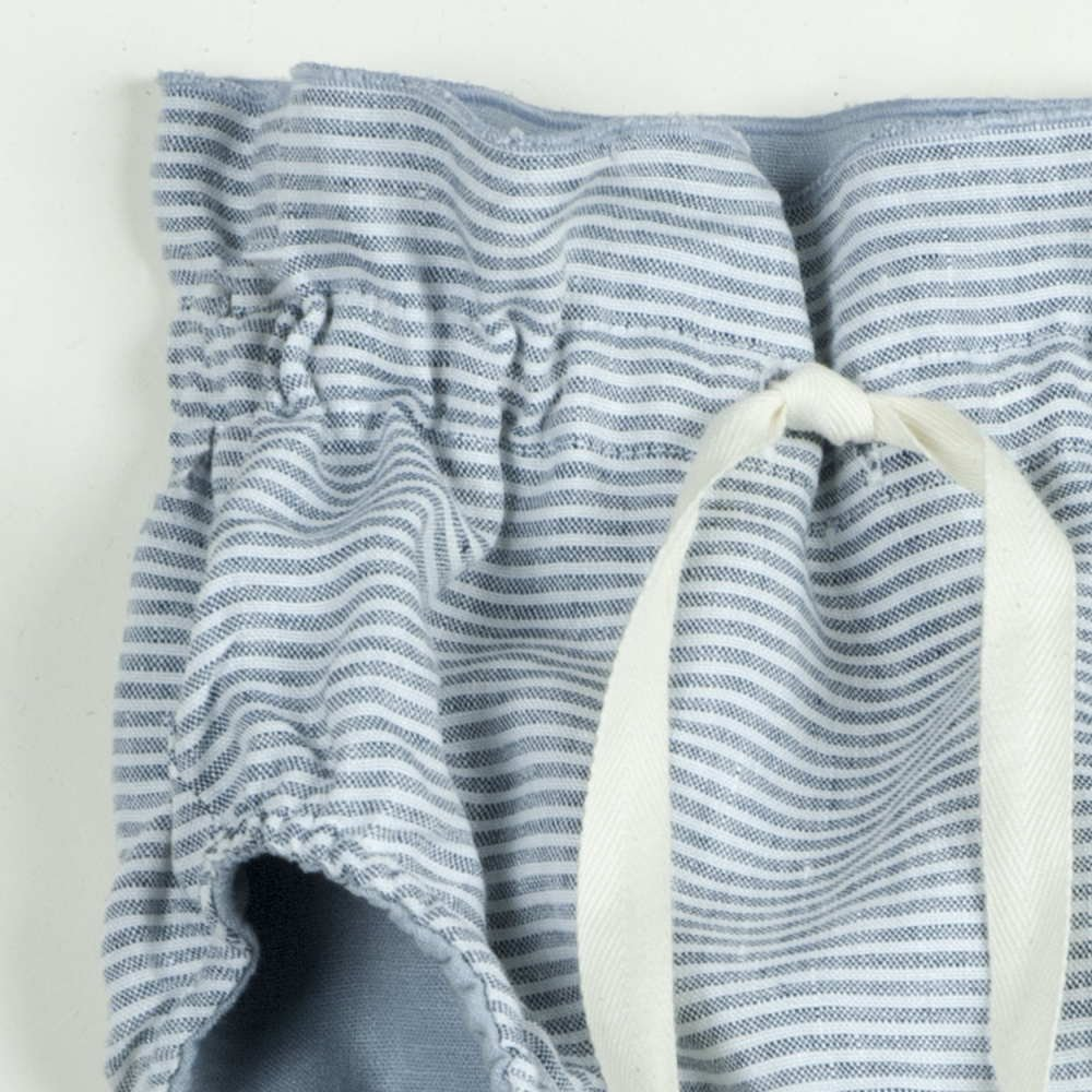 Reversible culotte blue and sailor stripes img5