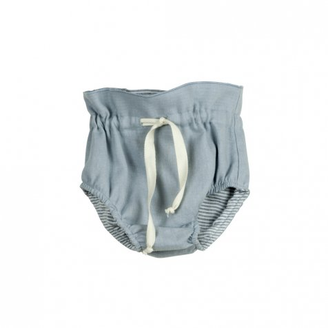 【WINTER SALE 40%OFF】Reversible culotte blue and sailor stripes