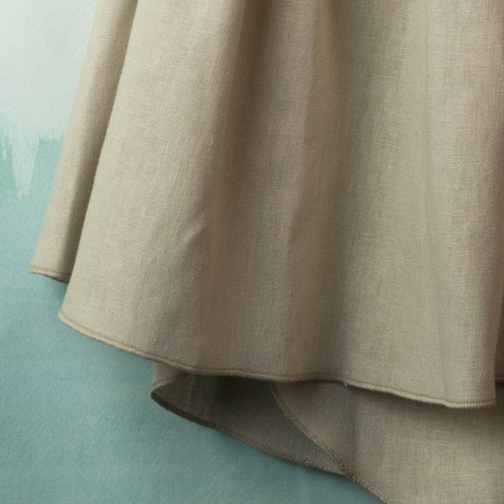 【SALE 30%OFF】Reversible beige dress with bib img3
