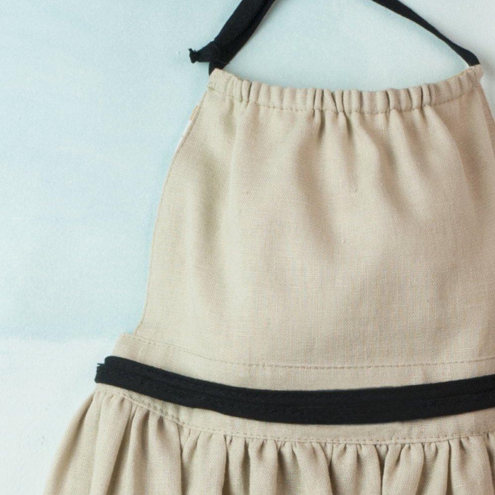 【SALE 30%OFF】Reversible beige dress with bib img5