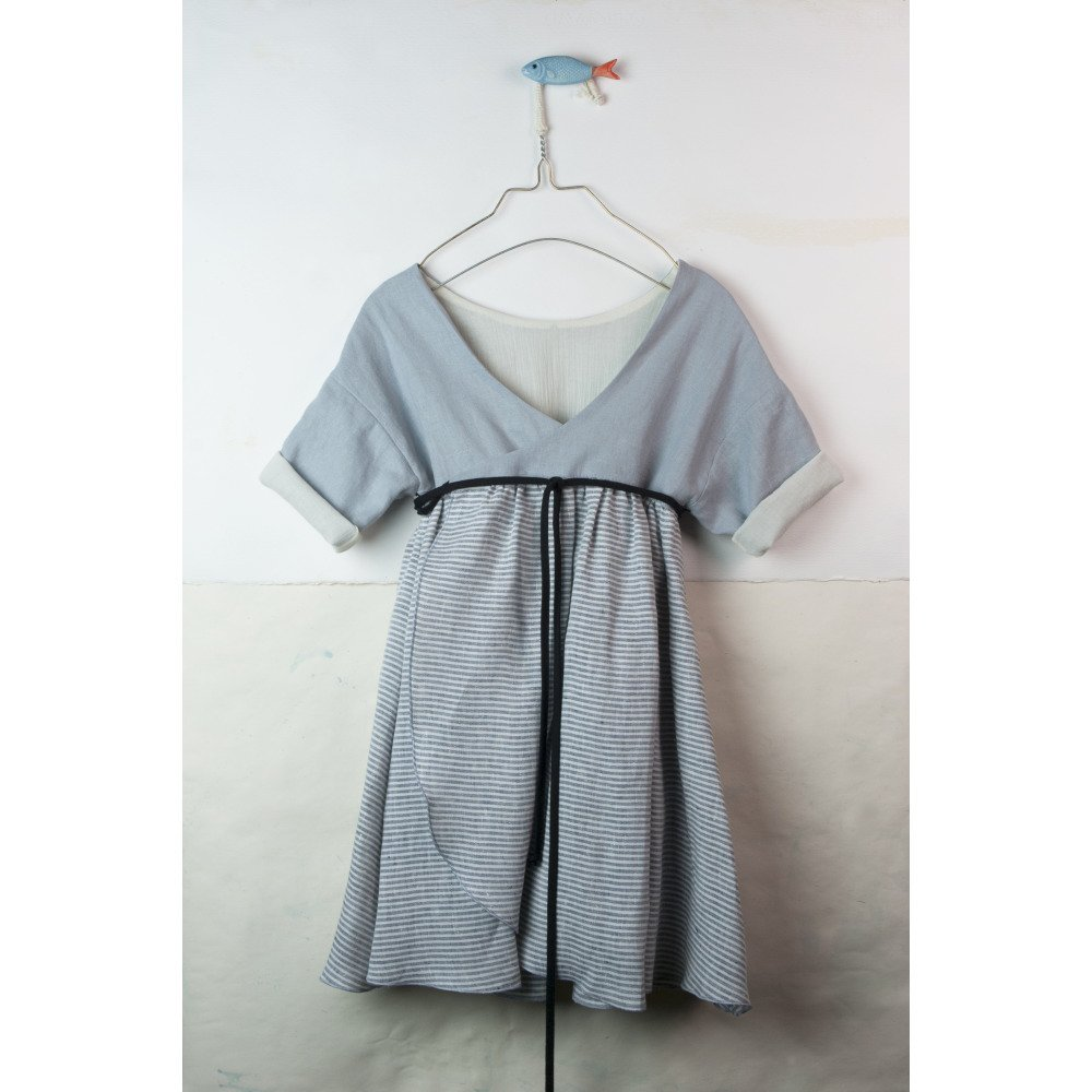 【SALE 30%OFF】Sailor stripes reversible dress with crossover back img7