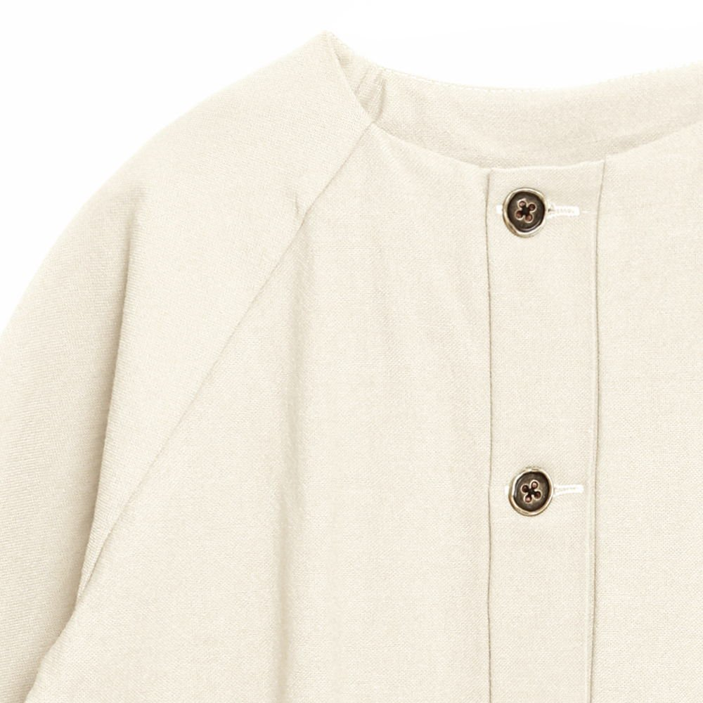 【SALE 30%OFF】Dancer's Button Coat IVORY img3