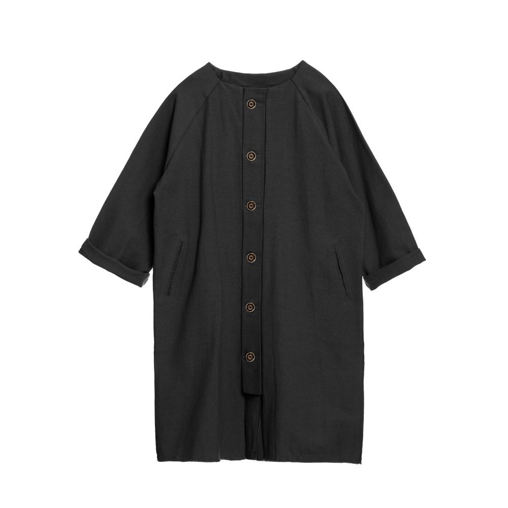 【SALE 30%OFF】Dancer's Button Coat BLACK img