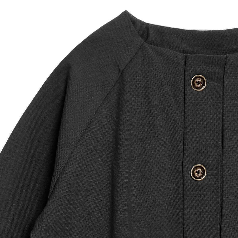 【SALE 30%OFF】Dancer's Button Coat BLACK img1