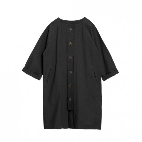 【SALE 30%OFF】Dancer's Button Coat BLACK
