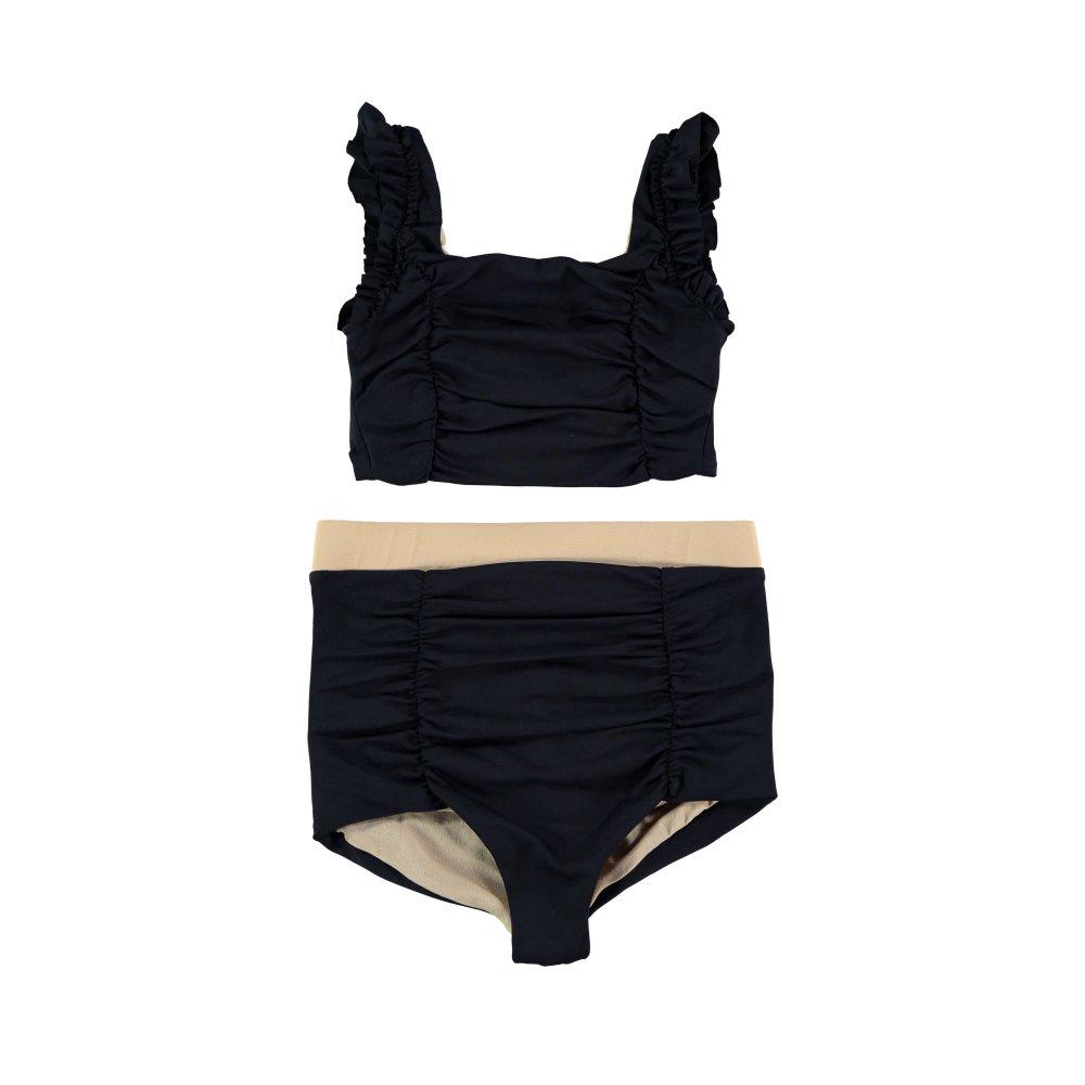 【SALE 30%OFF】Cap Sleeved Vintage Bikini BLACK img