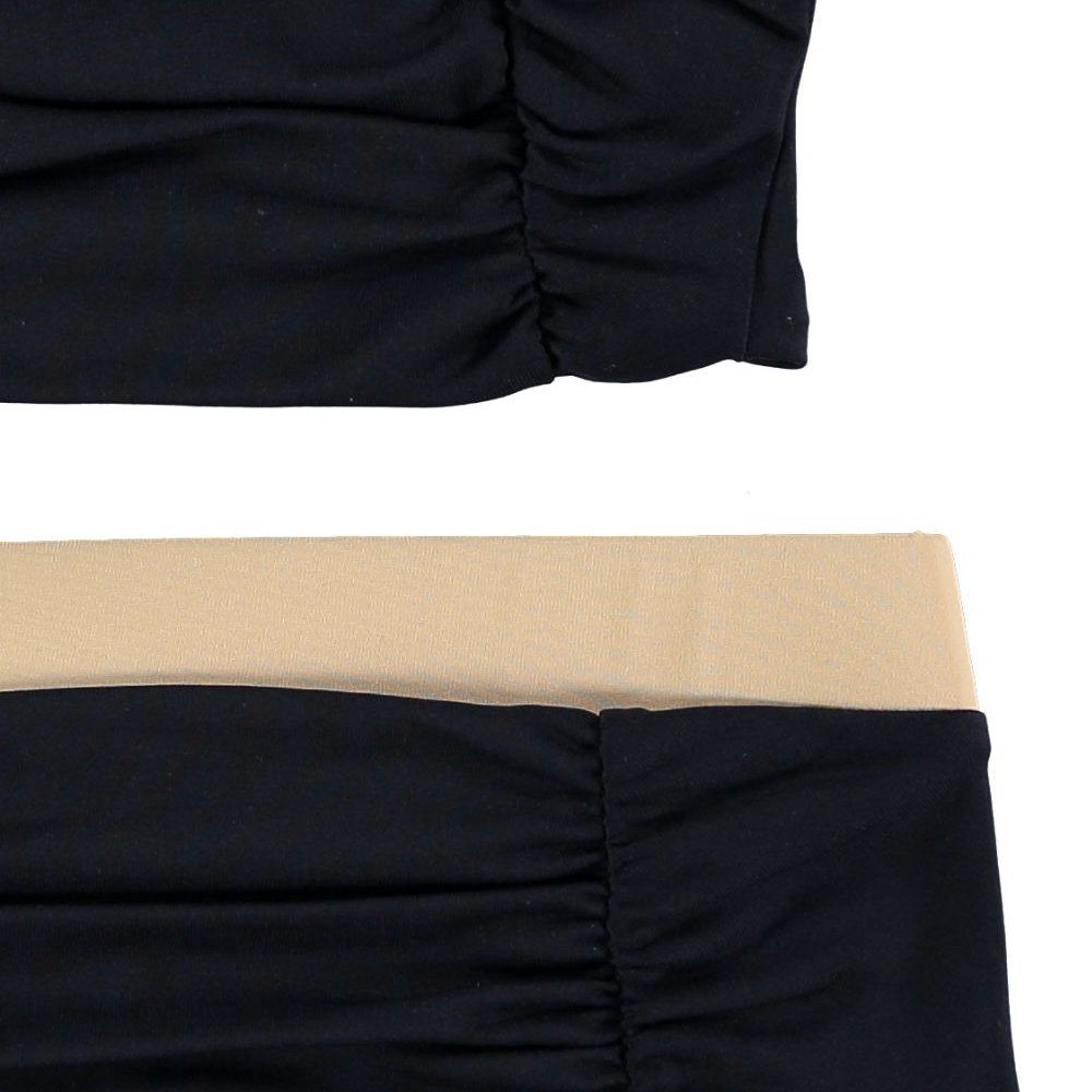【SALE 30%OFF】Cap Sleeved Vintage Bikini BLACK img2