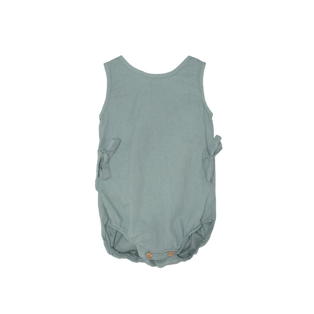 【SALE 30%OFF】Bow romper Blue Sky img