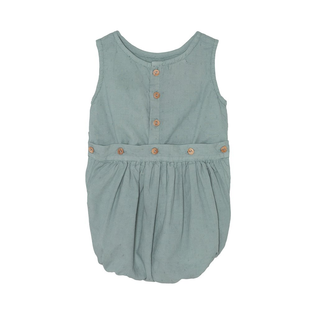 【SALE 30%OFF】Bow romper Blue Sky img2