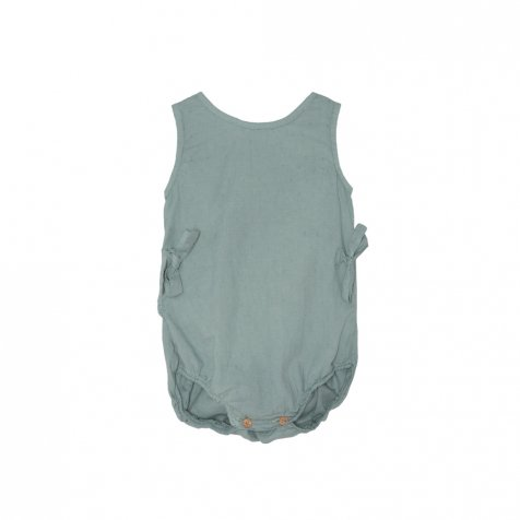【SALE 30%OFF】Bow romper Blue Sky