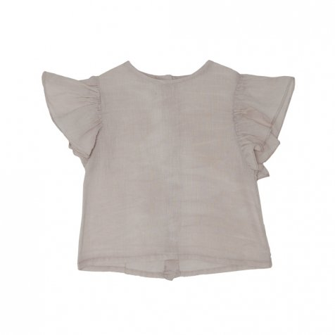 Peter Pan Blouse Grey Sand