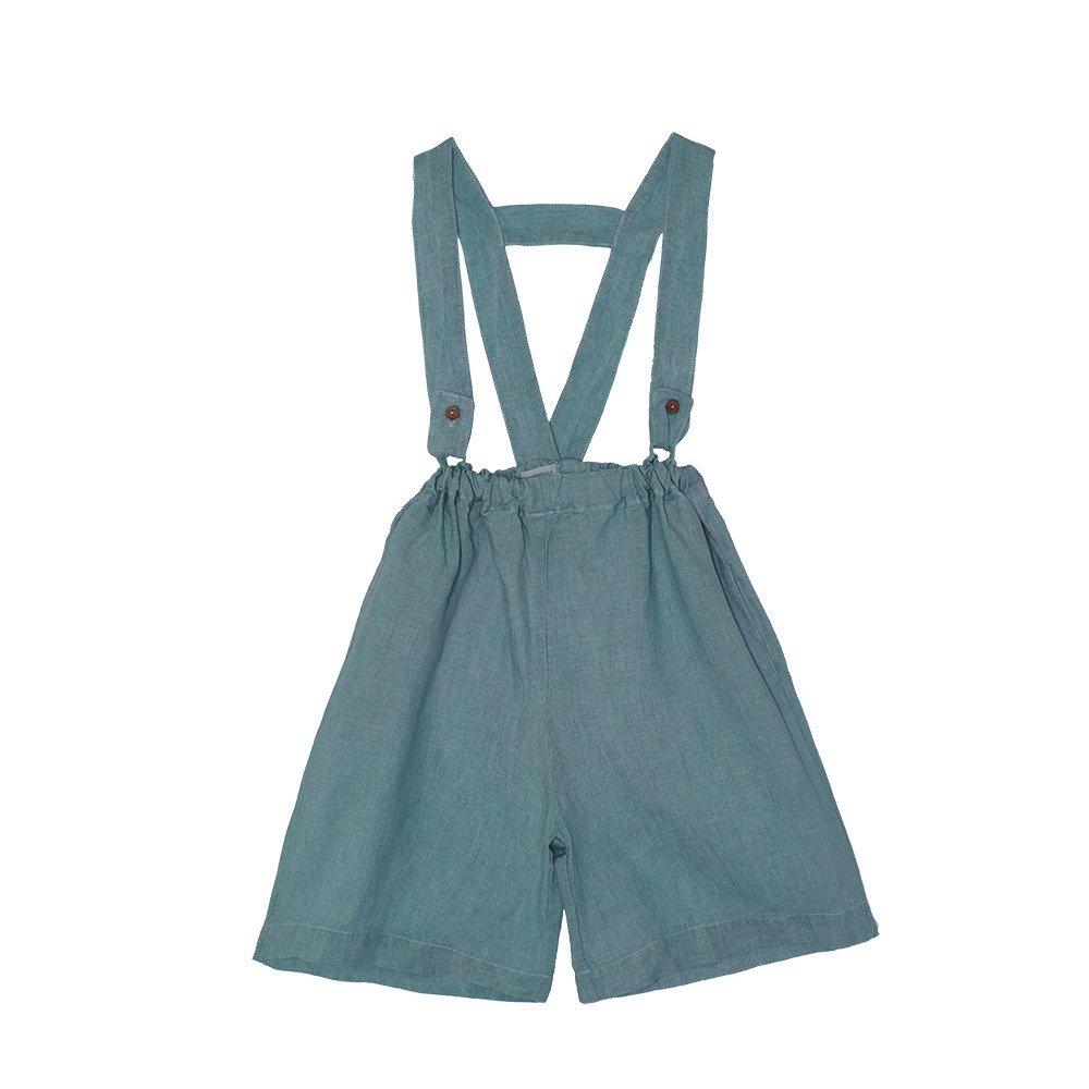 【SALE 30%OFF】Linen Pant Skirt Blue Sky img