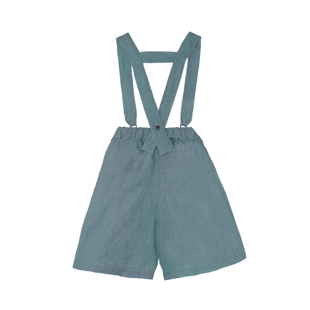 【SALE 30%OFF】Linen Pant Skirt Blue Sky img2