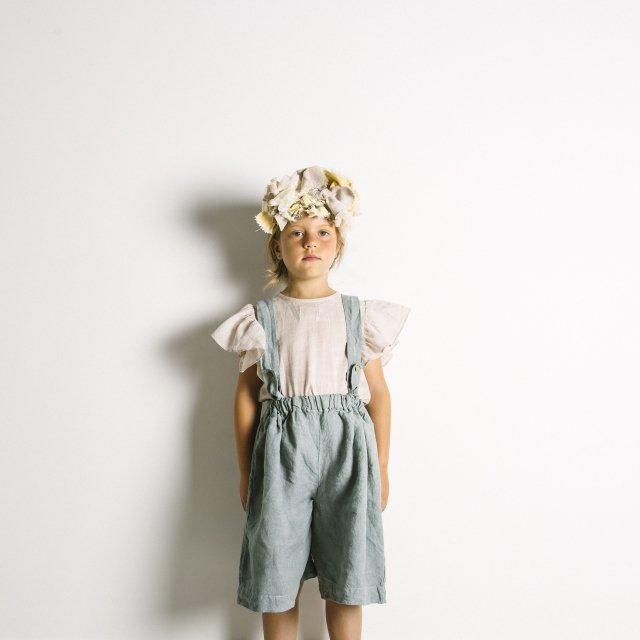 【SALE 30%OFF】Linen Pant Skirt Blue Sky img4