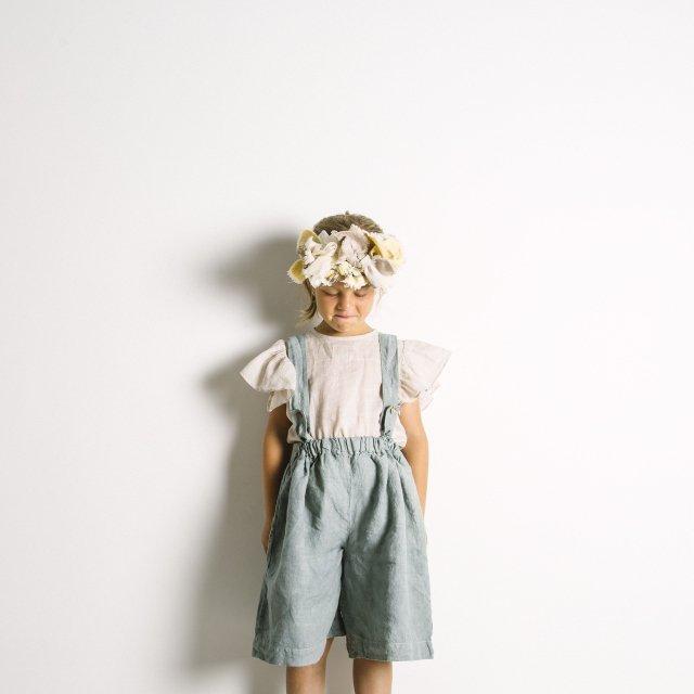 【SALE 30%OFF】Linen Pant Skirt Blue Sky img5