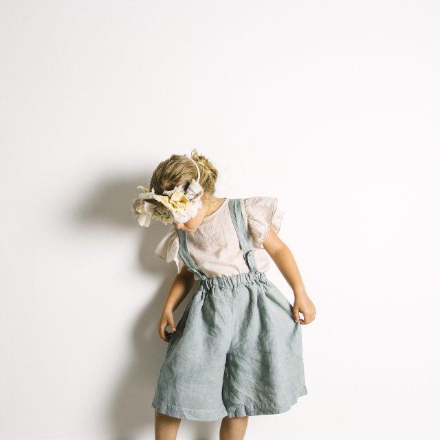 【SALE 30%OFF】Linen Pant Skirt Blue Sky img6