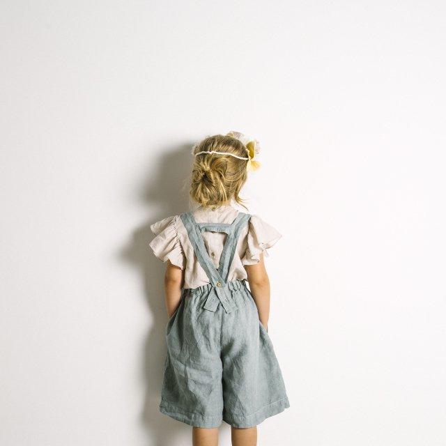 【SALE 30%OFF】Linen Pant Skirt Blue Sky img7